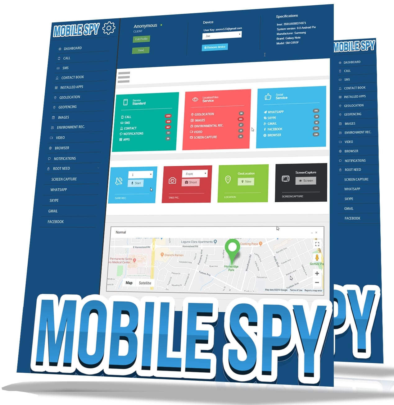 Win Mobile Spy App w PC Monitoring full screenshot